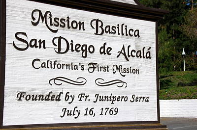 Photograph - Mission San Diego by Jeff Lowe