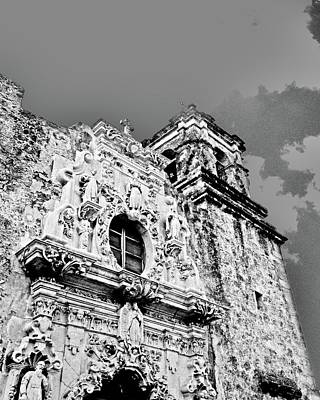 Digital Art - Mission San Jose San Antonio Tx by Lizi Beard-Ward