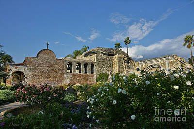 Toll House Photograph - Mission San Juan Capistrano by Diana Cox