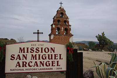 Photograph - Mission San Miguel by Jeff Lowe