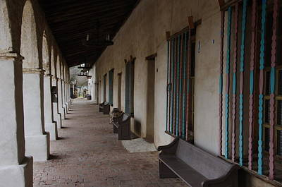 Photograph - Mission San Miguel Porch by Jeff Lowe