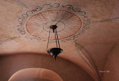 Southwest Church Photograph - Mission San Xavier Del Bac - Ceiling Detail by Suzanne Gaff
