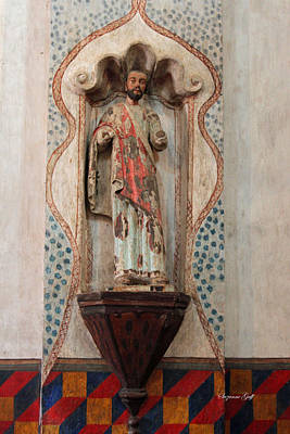 Religious Art Photograph - Mission San Xavier Del Bac - Interior Sculpture by Suzanne Gaff