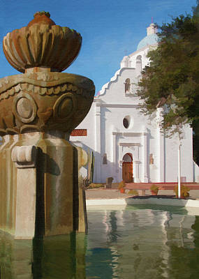 Digital Art - Mission Santa Cruz by Sharon Foster