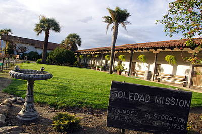 Photograph - Mission Soledad by Jeff Lowe