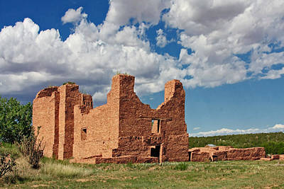 Mission To Quarai New Mexico Art Print