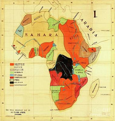 Drawing - Missionary Map Of Africa by Roberto Prusso