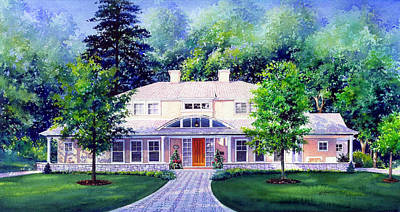 Architectural Artist Painting - Mississauga Home by Hanne Lore Koehler
