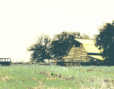Digital Art - Mississippi Farm Old Highway 61  by Lizi Beard-Ward