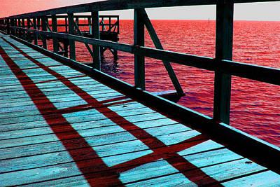 Photograph - Mississippi  Pier - Ver. 10 by William Meemken