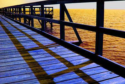 Photograph - Mississippi  Pier - Ver. 2 by William Meemken