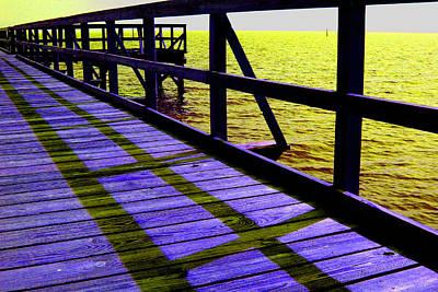 Photograph - Mississippi  Pier - Ver.  3 by William Meemken
