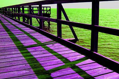 Photograph - Mississippi  Pier - Ver. 4 by William Meemken