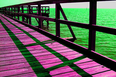 Photograph - Mississippi  Pier - Ver. 5 by William Meemken