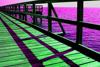 Photograph - Mississippi  Pier - Ver. 8 by William Meemken