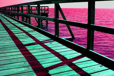 Photograph - Mississippi  Pier - Ver. 9 by William Meemken