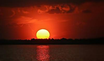 Photograph - Mississippi Sunset 2 by Jim Albritton