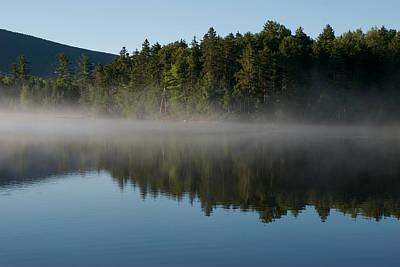 Mist Rises From The Lake On A Summer Art Print