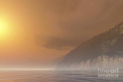 Mist Starts Burning Art Print by Corey Ford