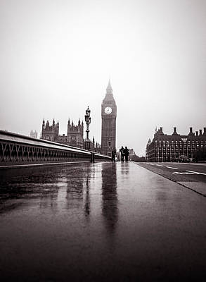 Photograph - Misty Big Ben by Lenny Carter