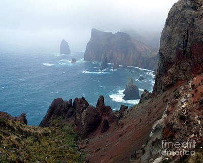 Misty Cliffs Art Print by John Chatterley
