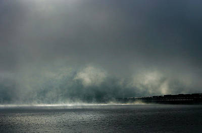 Photograph - Misty Crossing-2 by Marie-Dominique Verdier
