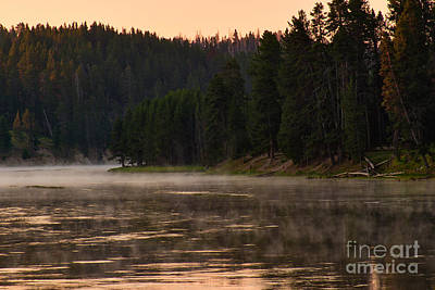 Dawn Photograph - Misty Dawn On The Yellowstone by Charles Kozierok