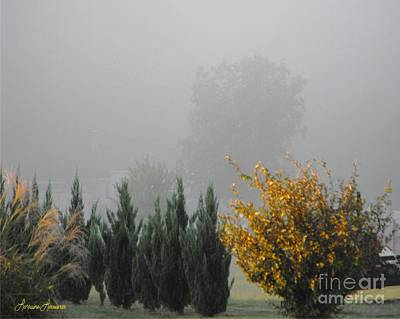 Misty Fall Day Art Print by Lorraine Louwerse