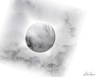 Photograph - Misty Moon by Diana Haronis