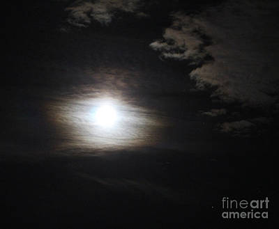Photograph - Misty Moon by Donna L Munro