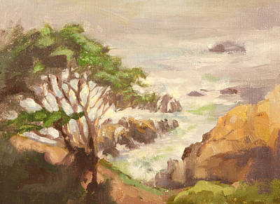 Carmel By The Sea Painting - Misty Morn by Kathy Cooper