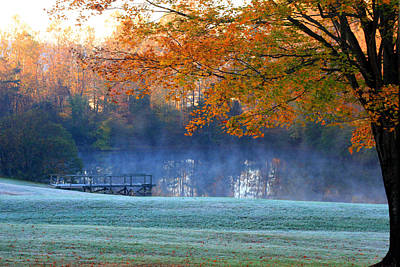 Misty Morning At The Lake Art Print