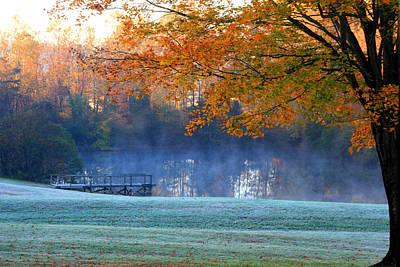 Misty Morning At The Lake Art Print