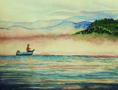 Misty Morning Catch Art Print by Jeanette Stewart