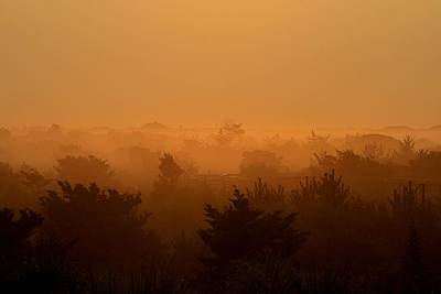 Photograph - Misty Morning Fire Island by Christopher Kirby