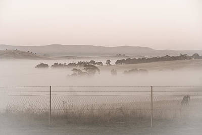 Misty Morning In The Country 2 Art Print
