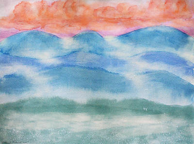 Painting - Misty Morning On Blue Hills by Debbie Portwood