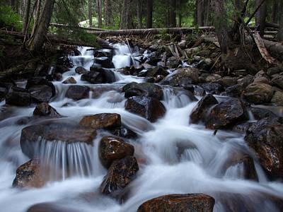 Photograph - Misty Mountain Creek by DeeLon Merritt