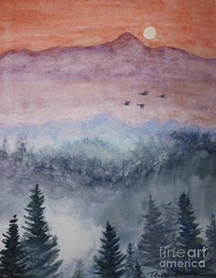 Painting - Misty Mountain by Terri Maddin-Miller