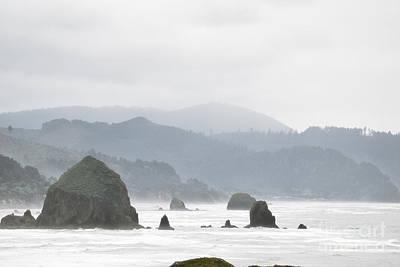 Misty Oregon Coast Art Print by Andrea Hazel Ihlefeld