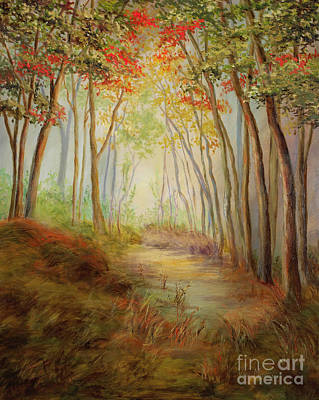 Mo Artist Painting - Misty Path by Vic  Mastis
