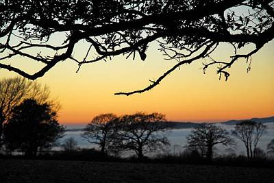 Dartmoor Photograph - Misty Sunset Devon by Rachel Burch