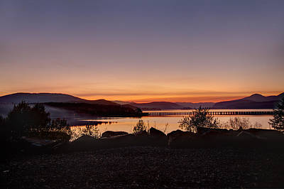 Photograph - Misty Sunset by Marie-Dominique Verdier