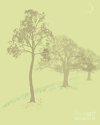 Misty Trees Art Print by Michelle Bergersen