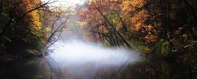 Misty Wissahickon Creek Art Print by Bill Cannon