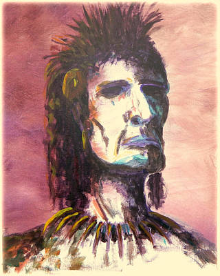 Chief Painting - Misunderstood Native by Kenneth McGarity