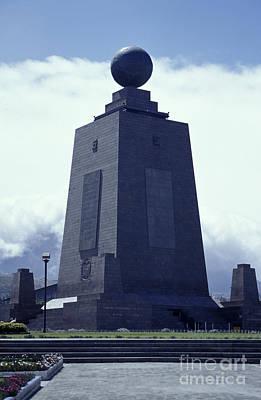 Photograph - Mitad Del Mundo Monument Ecuador by John  Mitchell