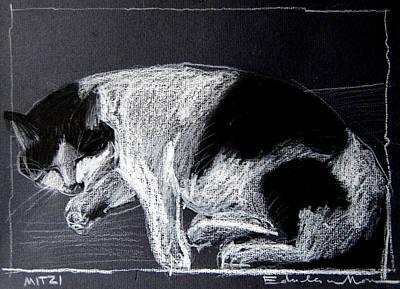 Mitzy Art Print by Mona Edulesco