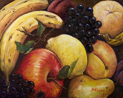 Mixed Fruit Art Print by Sheila Kinsey