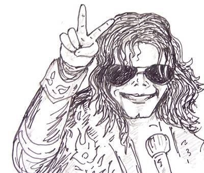 Mj Drawing - MJ by Rajan V
